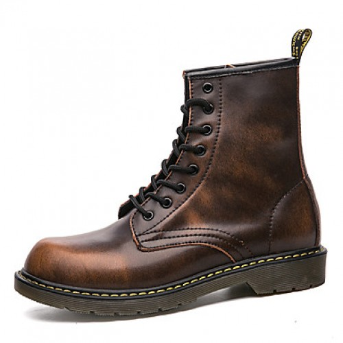 Men's Combat Boots Leather Fall / Winter Boots