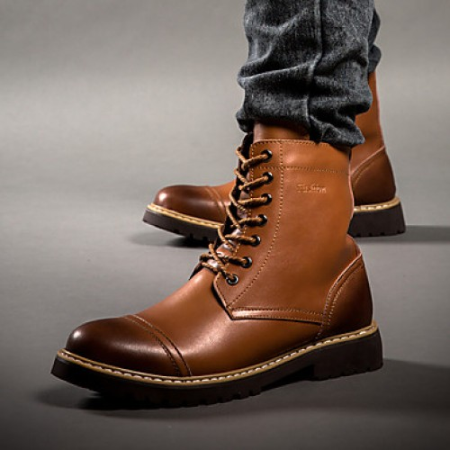 Men's Leather Shoes Leather Fall / Winter Comfort Boots