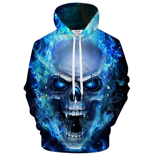 Men's Plus Size Active / Exaggerated Long Sleeve Loose Hoodie