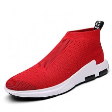 Men's Tulle Spring / Fall Casual / Comfort Sneakers Black / Gray / Red