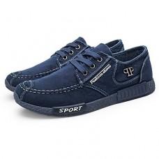 Men's Denim Spring / Fall Comfort Sneakers Walking Shoes Gray / Blue