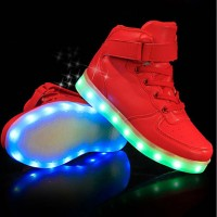 Men's Light Up Shoes PU(Polyurethane) Fall / Winter Sneakers White / Black / Red / Party & Evening