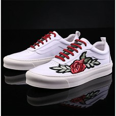 Men's Comfort Shoes Pigskin Fall Sneakers White