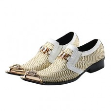 Men's Formal Shoes Synthetics Spring / Fall Vintage Oxfords White / Wedding / Party & Evening / Novelty Shoes
