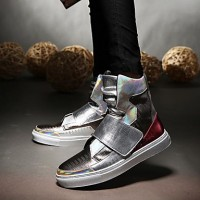 Men's Comfort Shoes PU(Polyurethane) Fall / Winter Sneakers Black / Silver