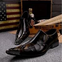 Men's Novelty Shoes Leather Spring / Summer Vintage / Comfort Oxfords Brown / Wedding / Party & Evening
