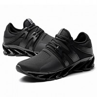 Men's Novelty Shoes Faux Leather / Tulle Fall / Winter Sneakers Black