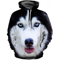 Men's Plus Size Punk & Gothic / Exaggerated Long Sleeve Hoodie - 3D Print Round Neck Black