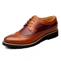 Men's Brogue Leather Spring / Fall British Oxfords Black / Brown / Yellow / Lace-up / Leather Shoes / Comfort Shoes