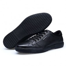 Men's Comfort Shoes Nappa Leather Spring & Summer / Fall & Winter Casual Sneakers Black