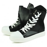Men's Comfort Shoes Synthetics Fall Sporty / Casual Sneakers Keep Warm White / Black