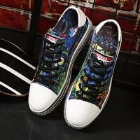 Unisex Comfort Shoes Canvas Spring Sneakers Black / Blue