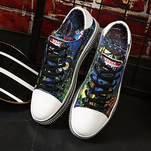 Unisex Comfort Shoes Canvas Spring Sneakers Black / Blue