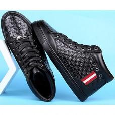 Men's Cowhide Winter Comfort Sneakers Black