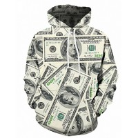 Men's Plus Size Sports Street chic / Punk & Gothic Long Sleeve Hoodie - Color Block Print Hooded Beige