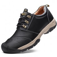 Men's Leather Shoes Cowhide Winter Vintage / Casual Sneakers Water Proof Black