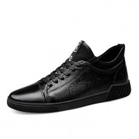 Men's Leather Shoes Nappa Leather Spring & Fall Sporty / Casual Sneakers Non-slipping Black