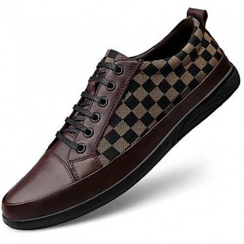 Men's Printed Oxfords Canvas / Nappa Leather Spring & Fall Classic / British Sneakers