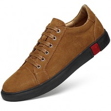 Men's Leather Shoes Nappa Leather Spring & Fall Sporty / Casual Sneakers