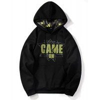Men's Casual Hoodie - Letter Green