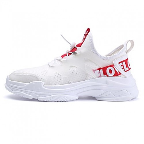 Men's Comfort Shoes Mesh Spring & Summer Sporty Sneakers Breathable White