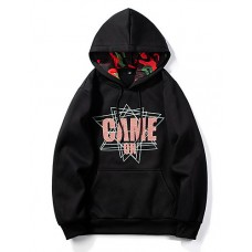 Men's Casual Hoodie - Letter Red