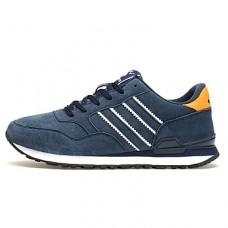 Men's Tulle / Pigskin Fall / Winter Comfort Sneakers Gray / Blue