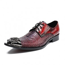 Men's Novelty Shoes Leather / Cowhide Spring / Summer Oxfords Red / Wedding / Party & Evening