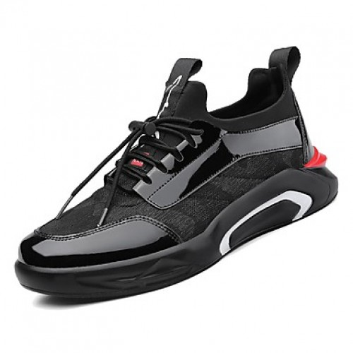 Men's Comfort Shoes PU(Polyurethane) Spring Sneakers Black