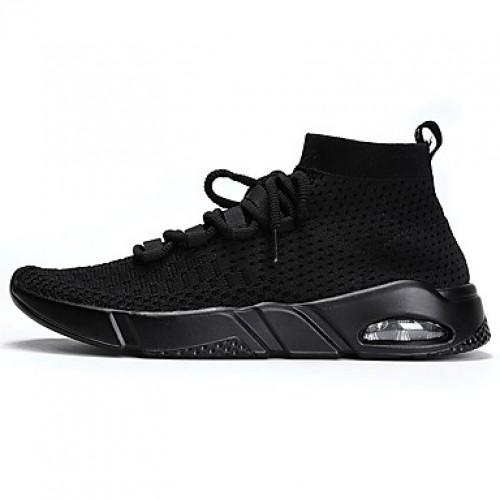 Men's Mesh Spring / Summer Comfort Sneakers Running Shoes Black