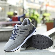 Men's Tulle / Pigskin Fall / Winter Comfort Sneakers Gray / Blue