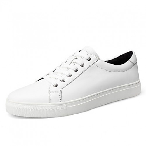 Men's Leather Spring / Fall Comfort Sneakers White / Black
