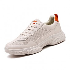 Men's Comfort Shoes Mesh Fall & Winter Casual Sneakers Beige