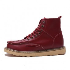 Men's Cowhide Fall / Winter Bootie / Combat Boots Boots Booties / Ankle Boots Black / Brown / Red