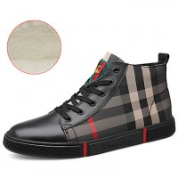 Men's Leather Shoes Cowhide Winter British / Preppy Sneakers Walking Shoes