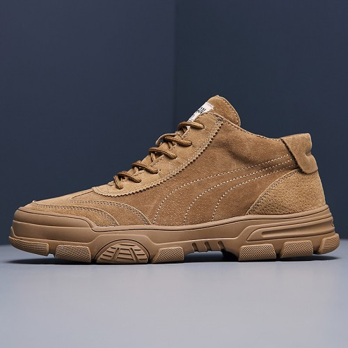Men's Sneakers Casual Daily Pigskin Brown Fall / Winter